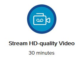 Stream HD quality Video